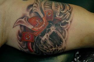 samurai ghost tattoo