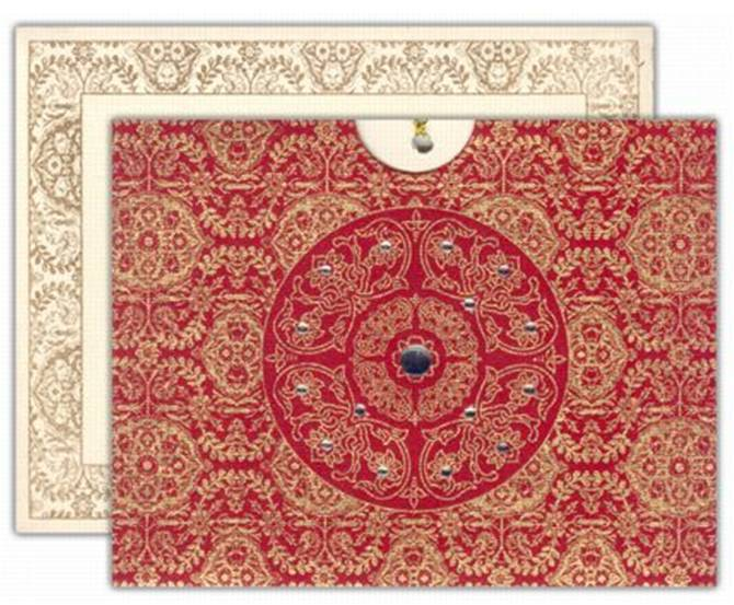 beautifully decorated card that 39s made in India by IndianWeddingCardcom