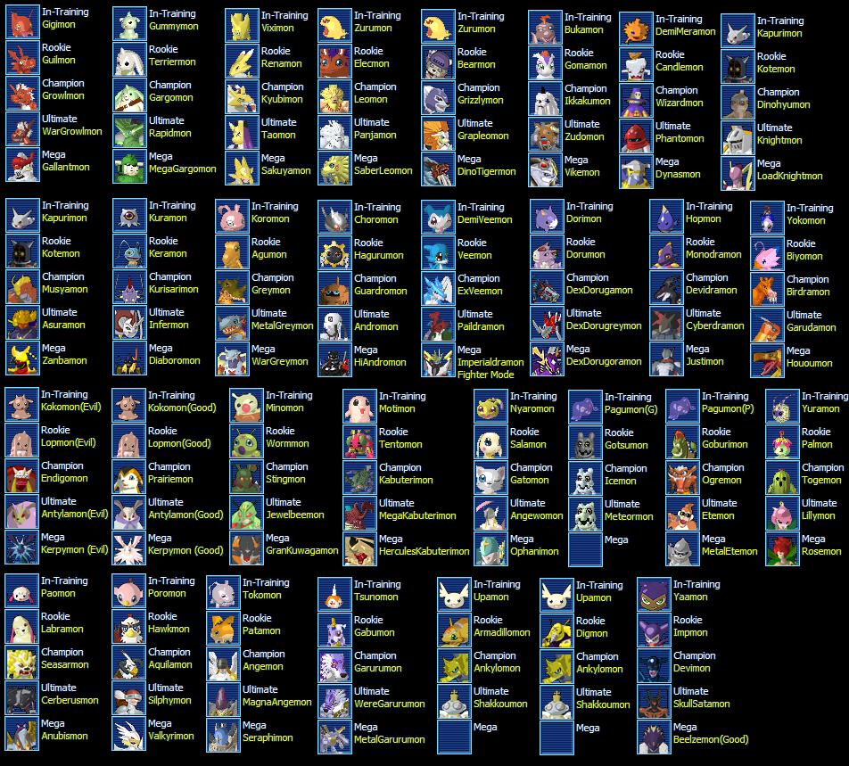 No sólo esos son los Digimon que se pueden tener, también como esta