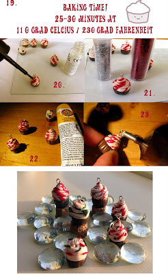 polymer clay cupcake tutorial - step 19 to 23