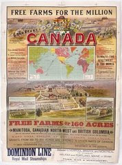 "1893 A.D. ""Free farms for the Millions"" in the Dominion of Canada (ca.1893)"