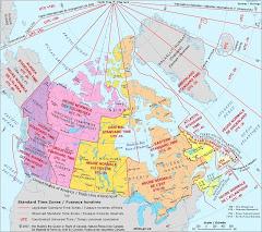 Six Canadian Time Zones / Six fuseaux horaires du Canada