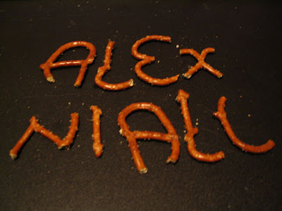 alex niall pretzel logic writing your name in your food kitchen lettering food fonts foodie language