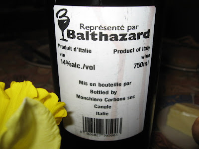 sru roero Monchiero Carbone back label with daffidil