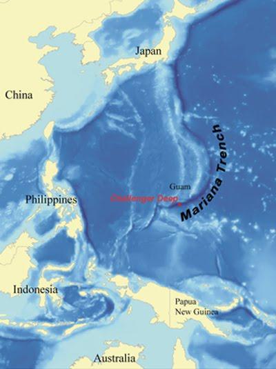 Марианский желоб в тихом океане