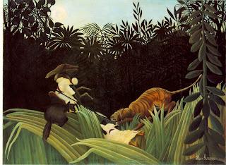 Henri Rousseau 1904 - Eclaireur attaqué par un tigre
