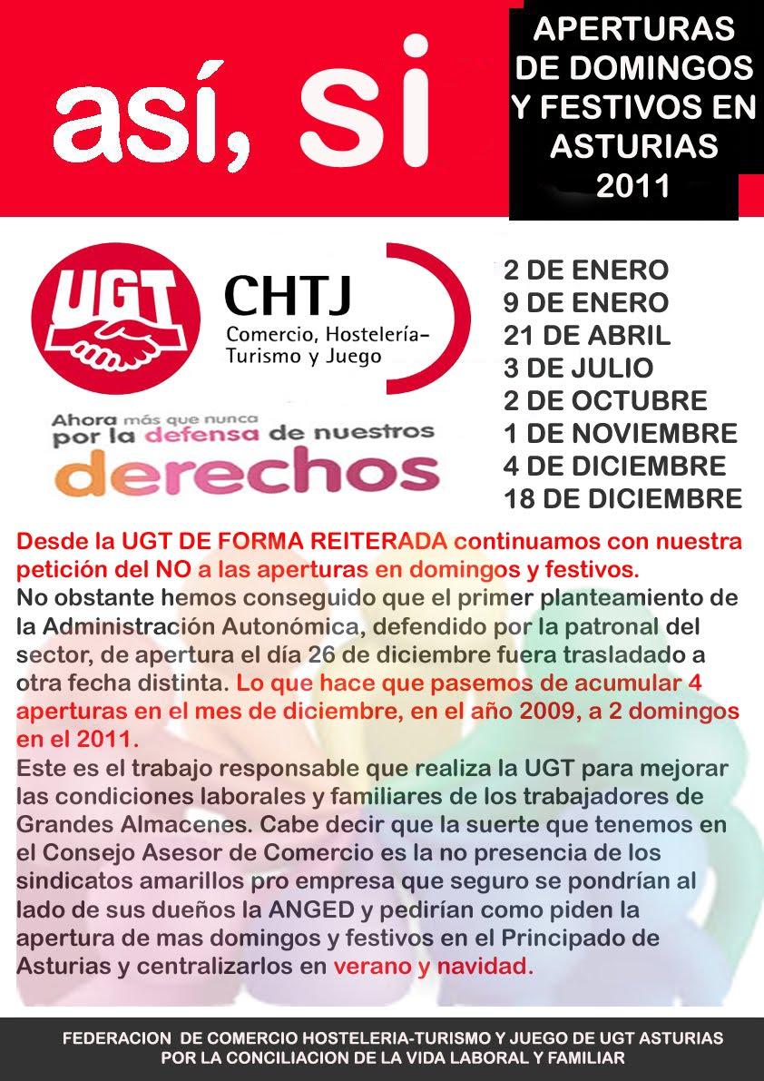 ugt carrefour asturias apertura de domingos y festivos en