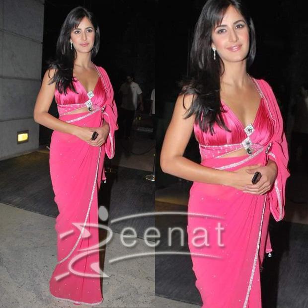 Blouse Saree Style Katrina Kaif