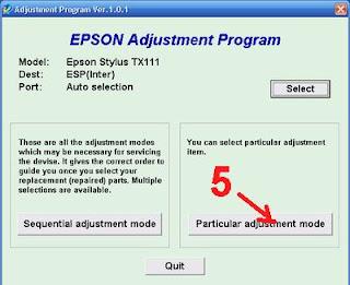 Atasi Printer Epson TX110   TX111 Blinking dengan Resetter