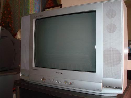 """Cara Service TV Sharp 25"""" Gelap Gambar Luntur"""