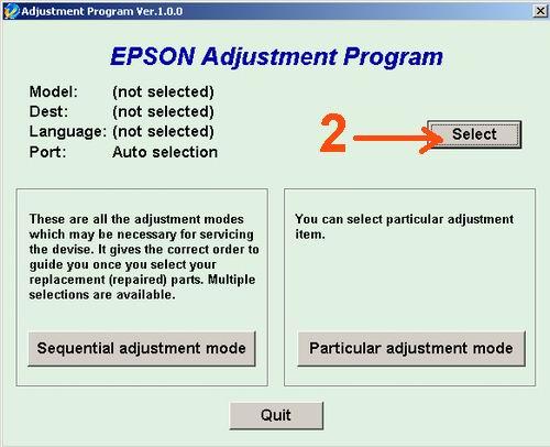 Software Reset Printer Epson T13