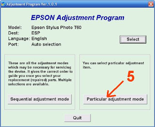 Atasi Printer Epson T60 Blinking dengan Resetter Software