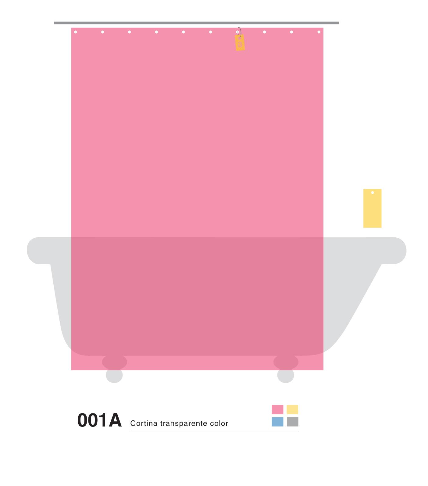 Cortinas De Baño Rosario:Estas son las B transparentes de color con fondo , vos podes armarla a