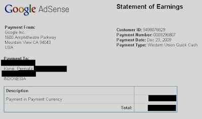 Google Adsense Payments