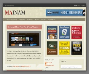 Mainan Vintage Blogger Template