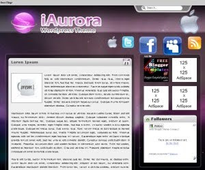 iAurora Blogger Template