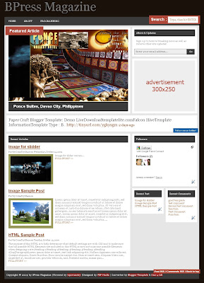 BPress Mag Blogger Template