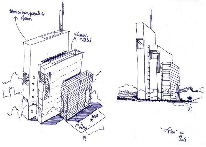 Dibujos de arquitecto architect drawings oficinas - Trabajo arquitecto barcelona ...