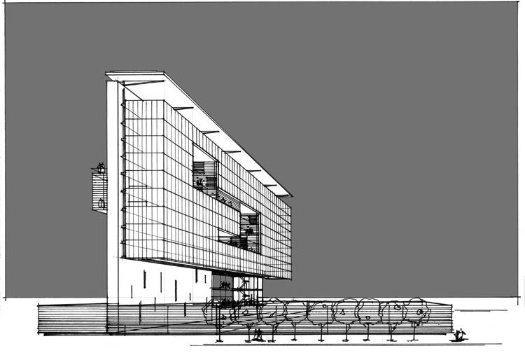 Dibujos de arquitecto architect drawings oficinas moai - Trabajo arquitecto barcelona ...