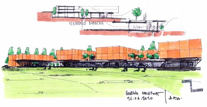 Dibujos de arquitecto architect drawings 100617 colegio - Trabajo arquitecto barcelona ...