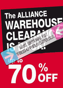 Alliance Cosmetics Warehouse Clearance Sale 70%: 4 Dec - 6 December