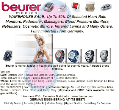 Beurer Medical Warehouse Sale