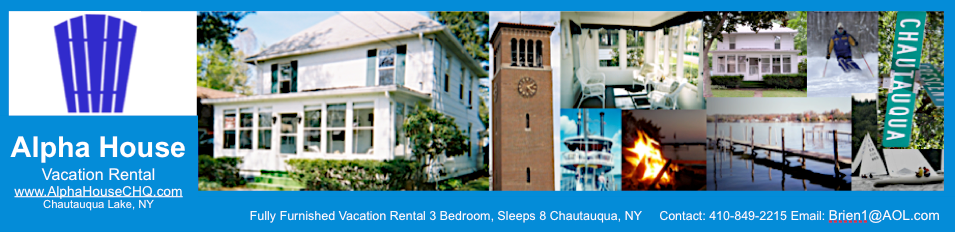 Chautauqua Lake Rental | www.AlphaHouseCHQ.com | Lake House Rental