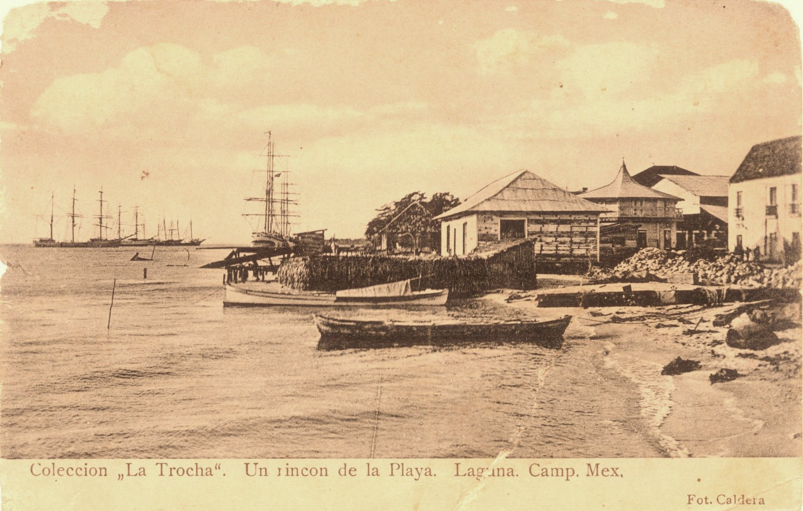 Panoramica de la playa isleña hace 100 años