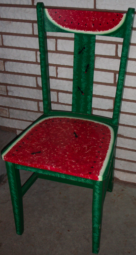 watermelon painted chair