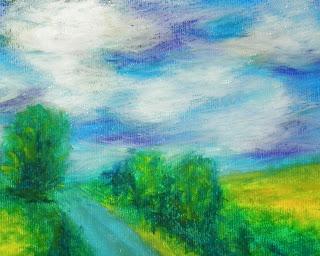 oil pastel landscape
