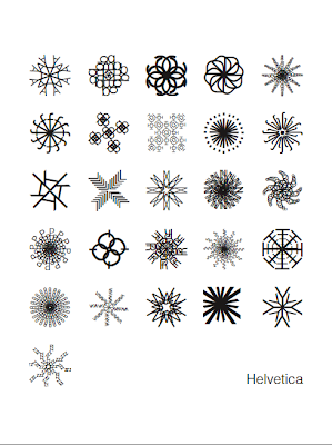 helvetica snowflake poster