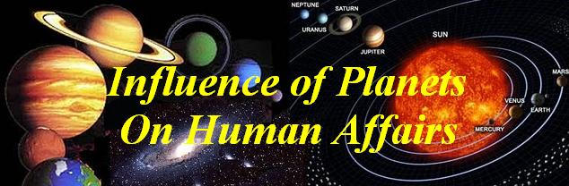Influence of planets on human affairs