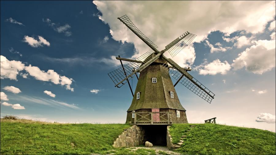 Ветряная мельница для электричества