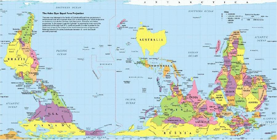 Карта мира из австралии
