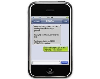 tampilan sms facebook