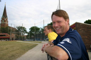 Coach Jim (and nephew Austin)