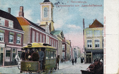 Postcard: Tram in The Hague