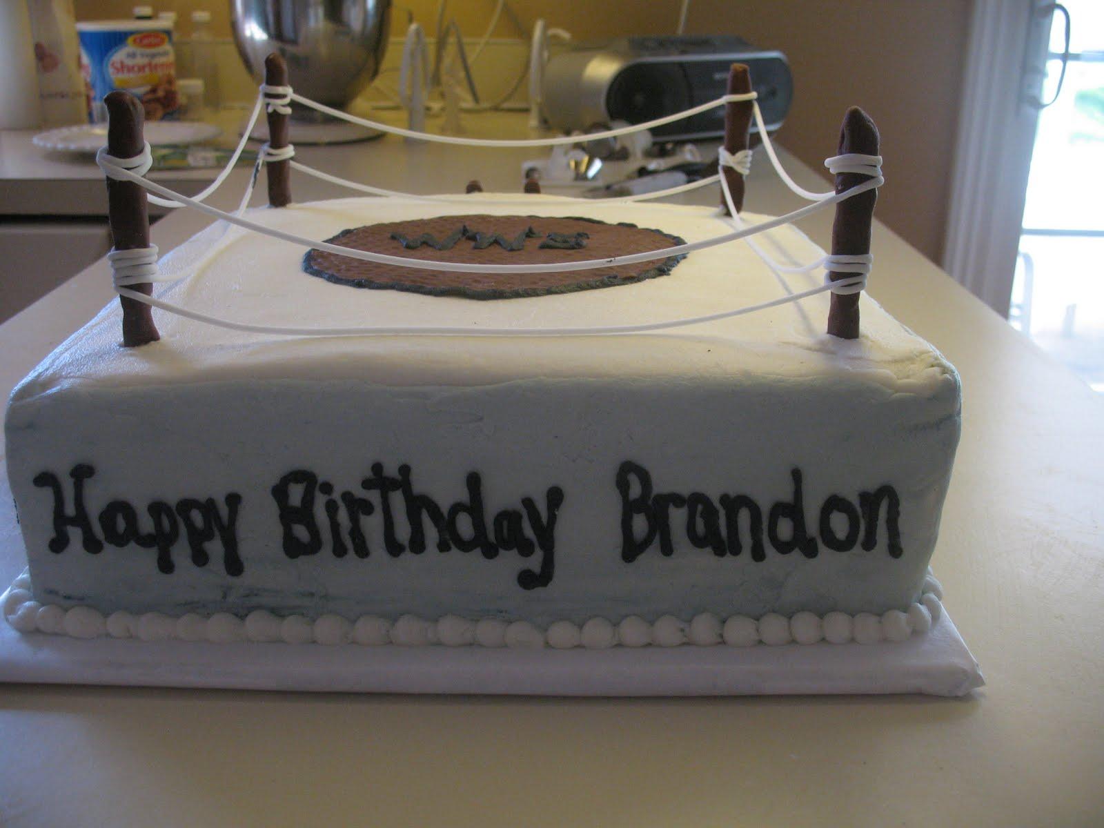 Brandons Wrestling Birthday Cake Cakes By Mary Ann