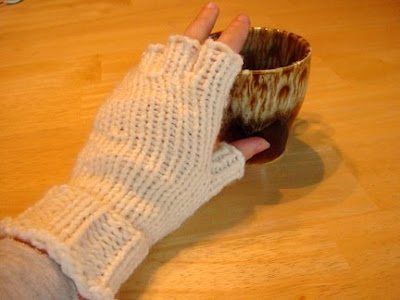 Creative Kjs Corner My New And Improved Loom Knit Gloves And Half
