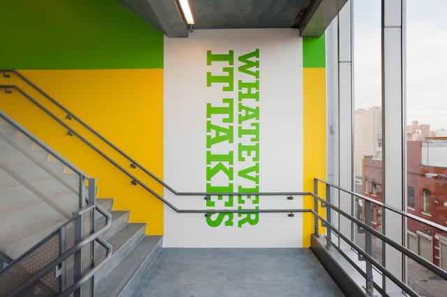 Paula scher schools environmental graphics environmental design