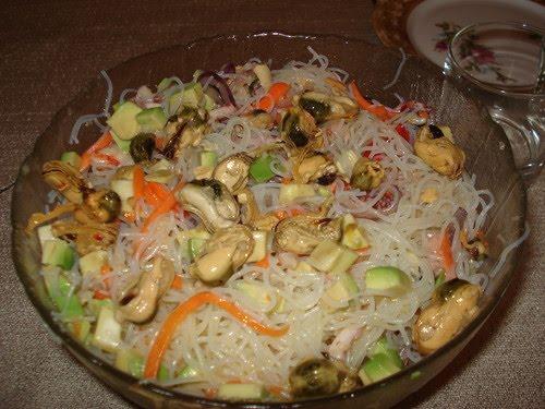Салат с мидиями - Фудзияма
