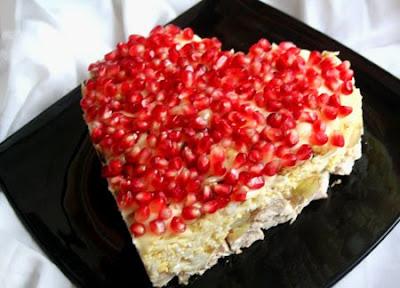 Салат «Гранатовое сердце» ко Дню Святого Валентина