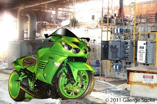 Green Kawasaki ZX-14