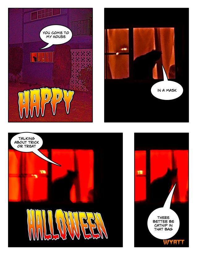black cat cartoon. Wyatt Cat Cartoon: Happy