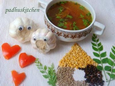 garlic rasam-poondu rasam