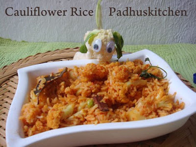 Cauliflower rice-Gobi Rice (pulao)