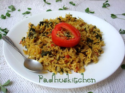 methi rice-fenugreek rice