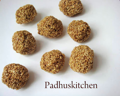 Sesame seed balls-ellu urundai