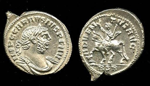 Moneda romana. Anverso y Reverso