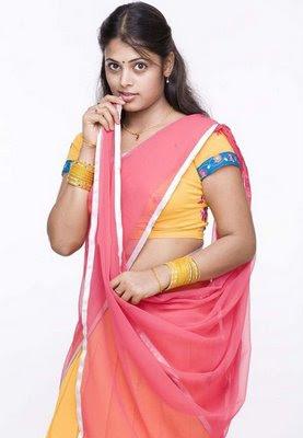 Telugu Sexy Actress Sindhu Menon Half Saree Photo